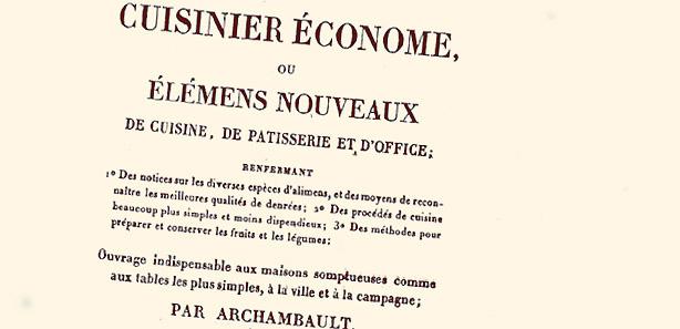 Cuisinier économe Archambault 1825