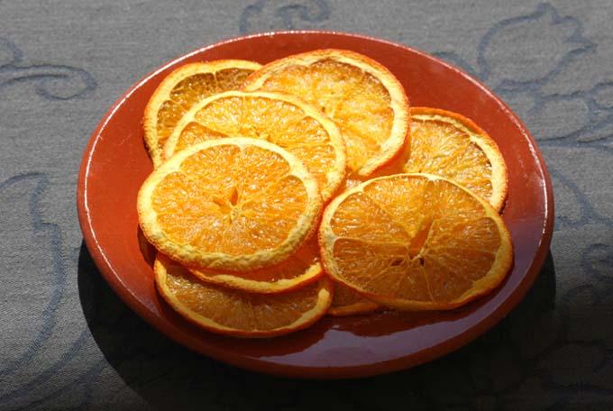 Orange chips d'orange