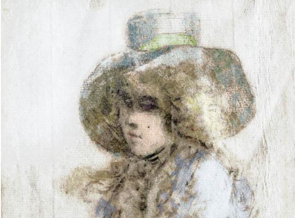 William Hoare de Bath dessin de jeune fille