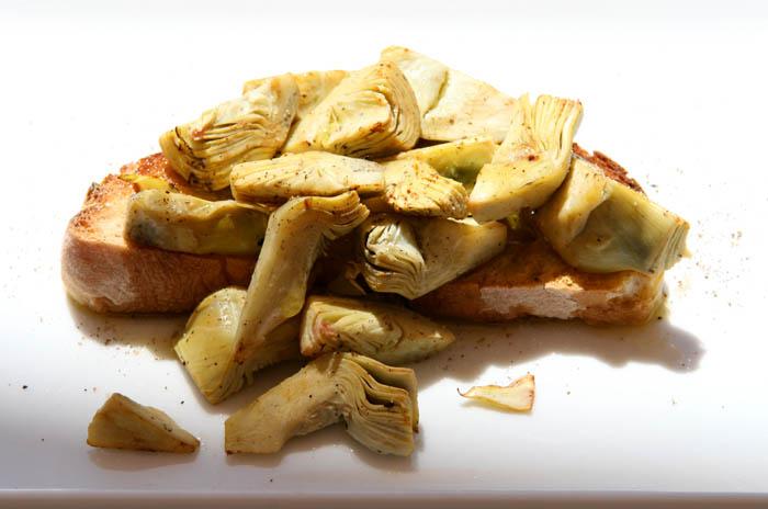 Artichoke bruschetta carciofo