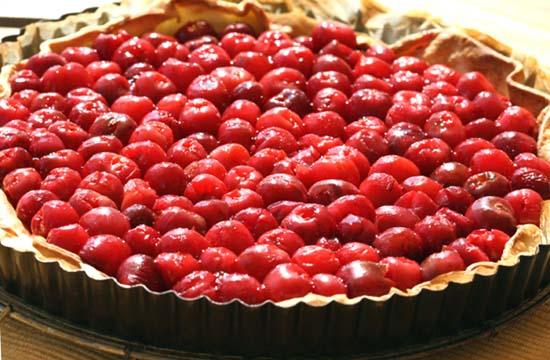 Cherry tart tarte aux cerises bolo cereja