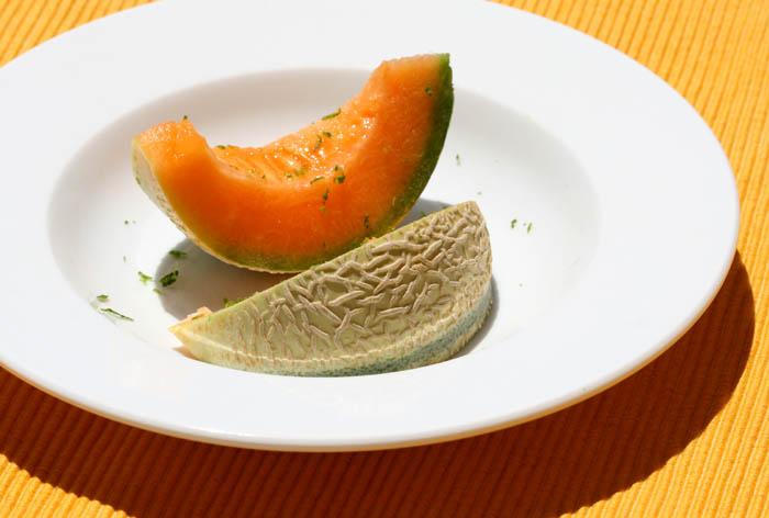 Melon cantaloupe charentais brodé