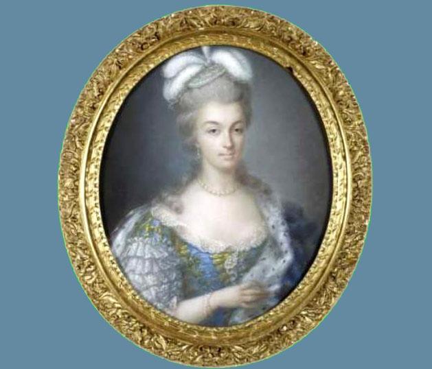 Marie Antoinette par Anne Coster pastel 1780