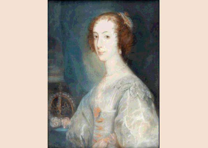 Henriqueta Maria de França copie pastel de Van Dick