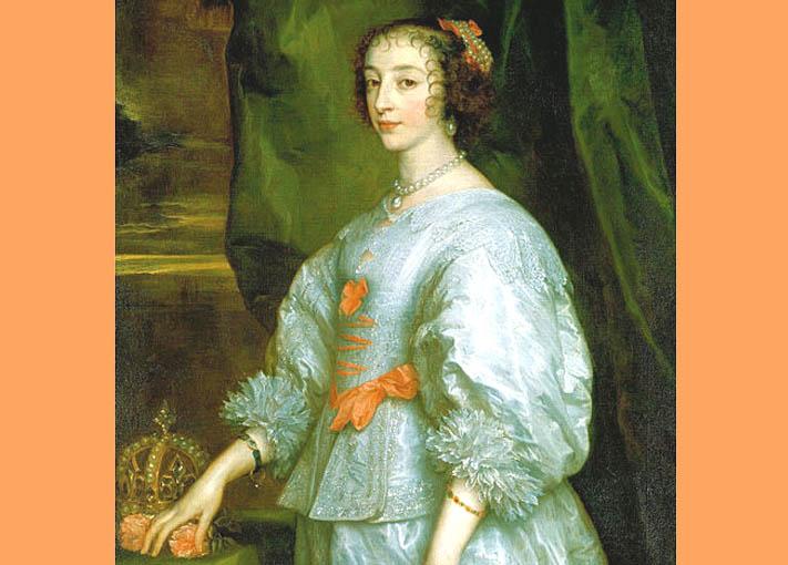Henriette Marie de France van Dyck 1632