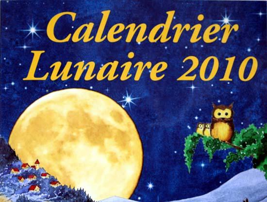 Calendier lunaire Michel Gros 2010