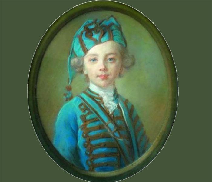 Enfant Boyer Fonfrede Perronneau en habit de hussard copie