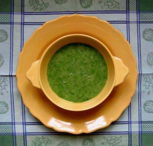 Yam and rocket soup