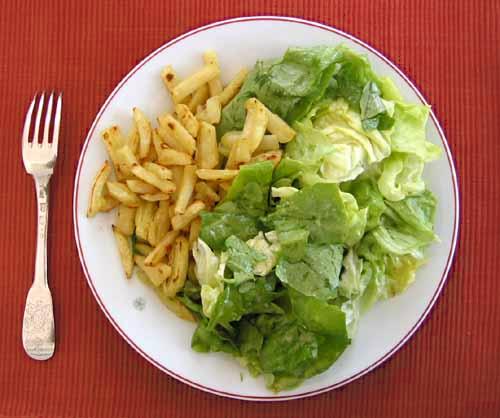 New potatoes & lettuce