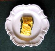Omelette oseille tranche