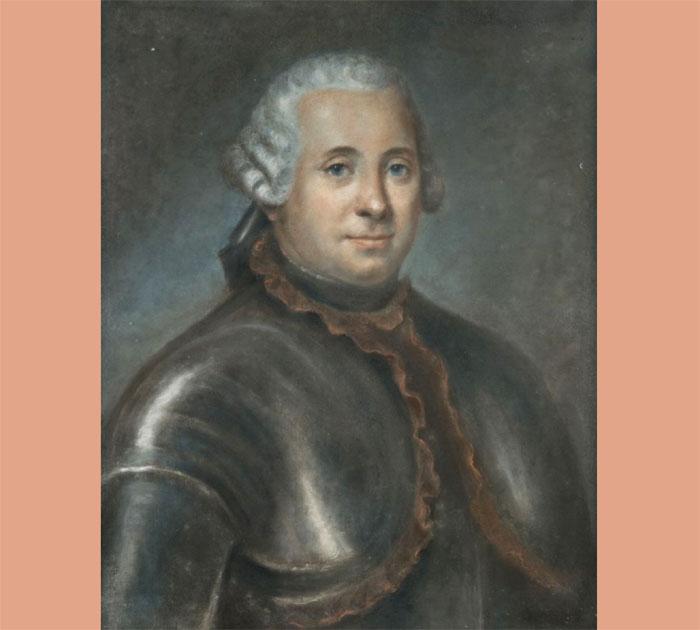 François Florimond comte du Crozet 1725-1780 pastel de Charles-Marie Caffieri
