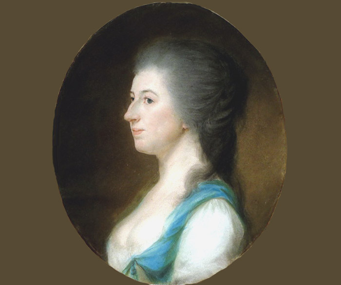 Pastel XVIII° femme profil georgian lady