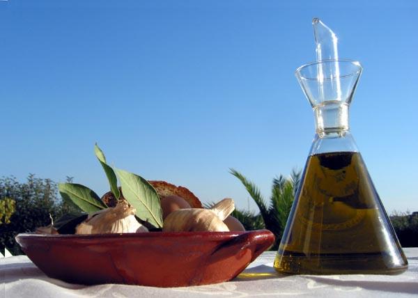 Olive oil garlic