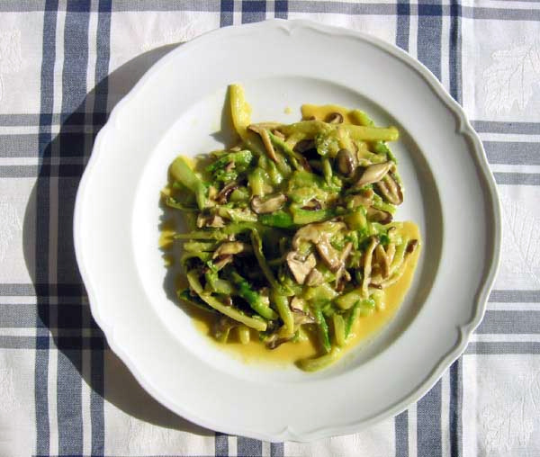 Asparagus salade