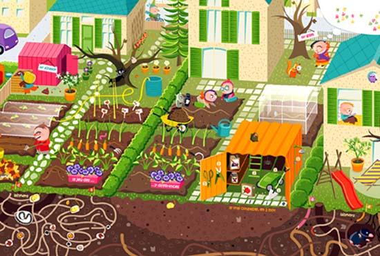 Un jardin habit calendrier 2011 pour les enfants for Calendrier du jardin potager