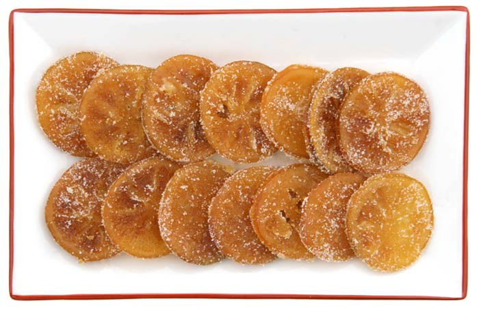 Candied indian sweet lime douce Palestine confite