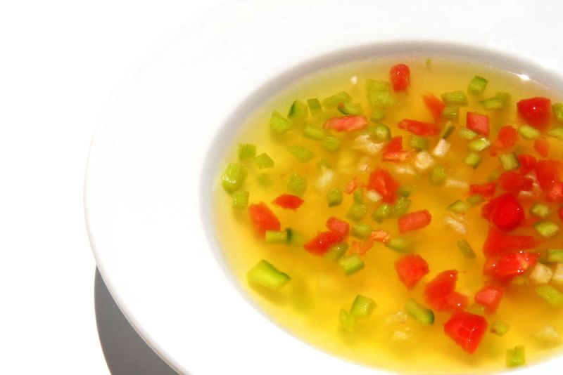 Starfruit passion fruit cold soup