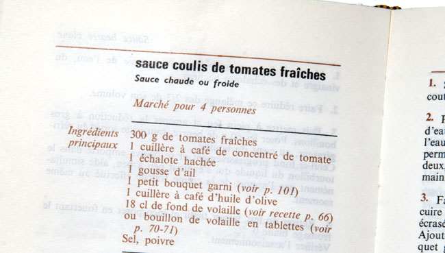 Sauce coulis tomate Michel Gerard