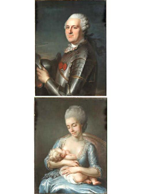 Jean André Baron de Brossin comte de Méré Charlotte Lallemand de Macoueline comtesse de Méré