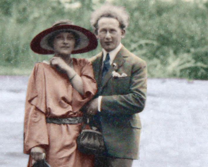 Odette Choiselat et Lucien Brigand 1923