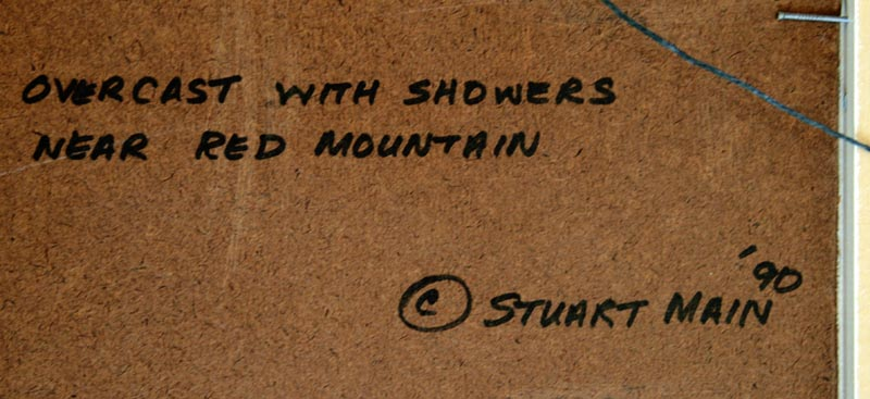Overcast with showers near Red Montain Stuart Main 1990