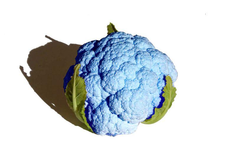 Cauliflower blue chou fleur bleu