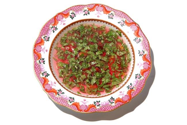 Cold soup  tomato