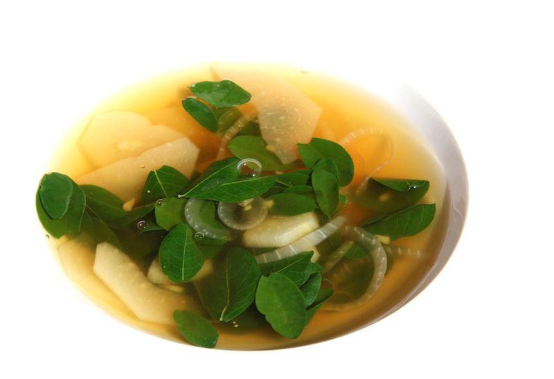 Moringa soup morenga soupe