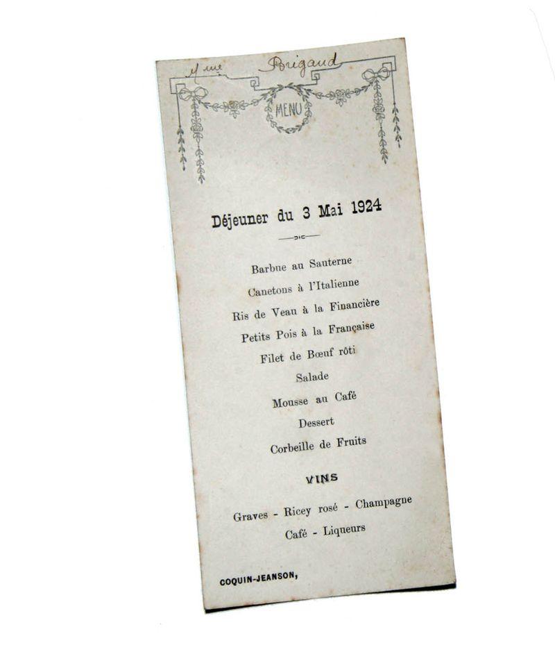 Déjeuner du 3 mai 1924