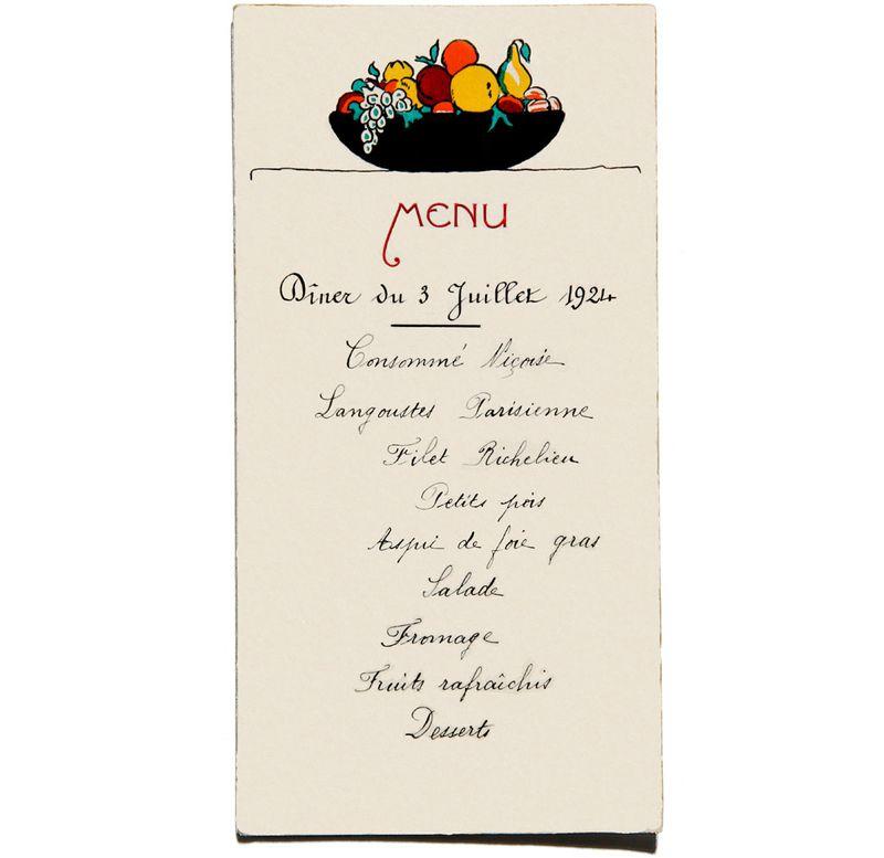 Diner du 3 juillet 1924 Lucien Brigand