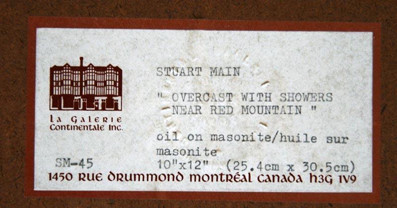 Overcast with showers Stuart Main 1990