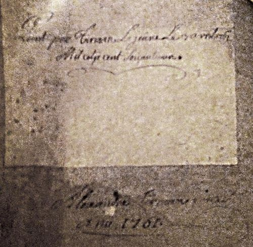 Verso Tirman 1761 FB