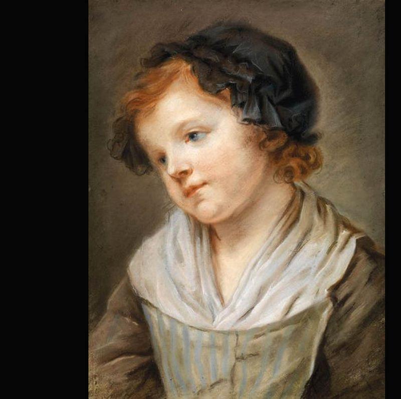 Portrait enfant style de greuze