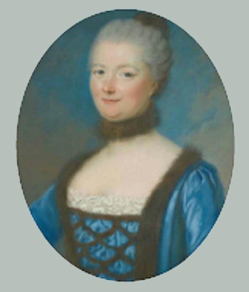 Marie-Josèphe-Elisabeth Quarré du Bourg par bernard 1760