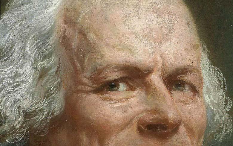 Ducreux autoportrait détail