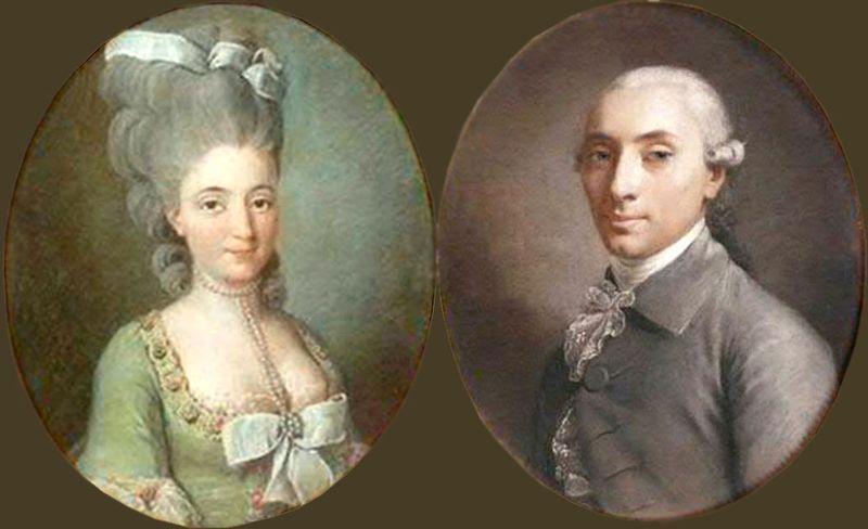 Charles François Jean Frédéric Godard d'Aucourt et Adrienne Choart de Magny