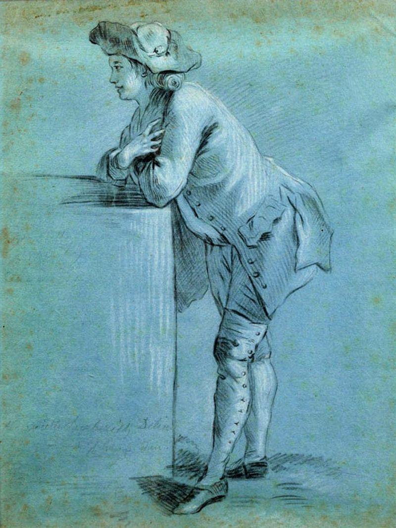 Dessin XVIII sur papier bleu