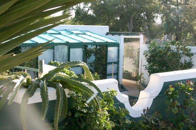 Jardin vert avant