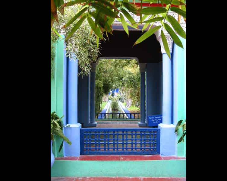 Majorel jardin peint