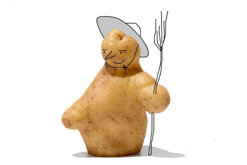 Bonhomme de neige en pomme de terre
