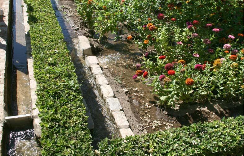 Irrigation gravité par portes