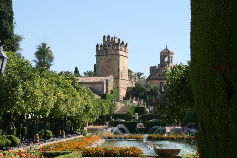Cordoue alcazar rois chrétiens jardin