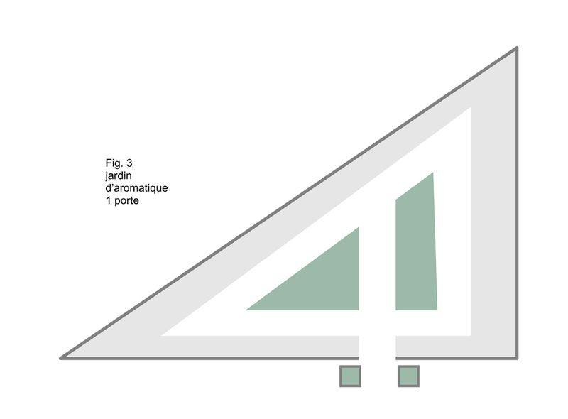 Jardin clos 1 porte triangulaire copie