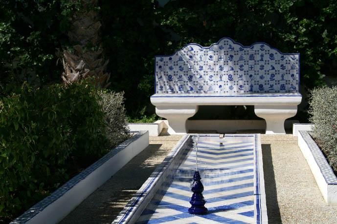 La fontaine du jardin bleu