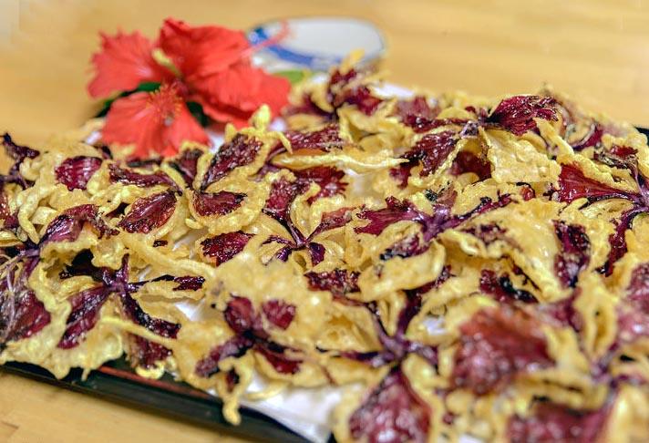 Tempura d'hibiscus