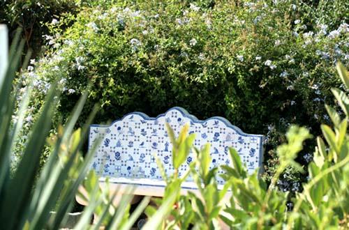 Blue bench banc bleu banco azul